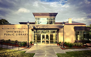 shrewsbury public library west entrance